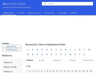 dlldownloader.com screenshot