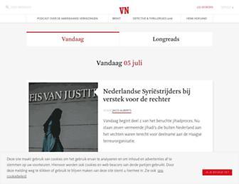 Main page screenshot of vn.nl