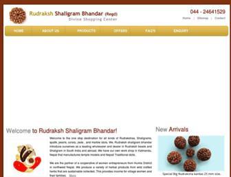 rudrakshshaligrambhandar.com screenshot