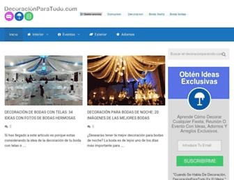 decoracionparatodo.com screenshot