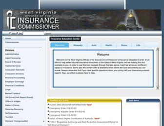 wvinsurance.gov screenshot