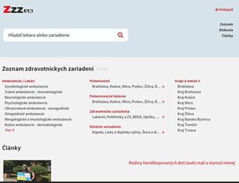 Main page screenshot of zzz.sk