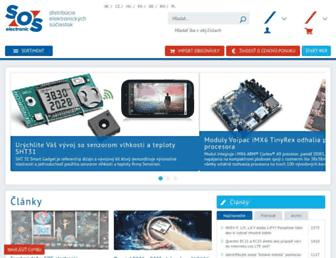 Main page screenshot of sos.sk