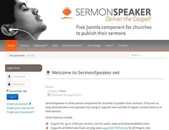 sermonspeaker.net screenshot