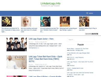lirikdanlagu.info screenshot