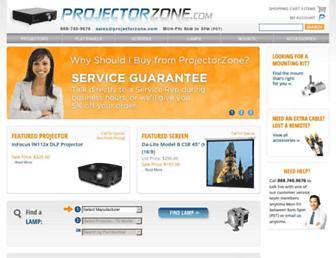projectorzone.com screenshot