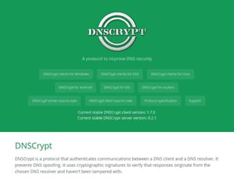dnscrypt.org screenshot