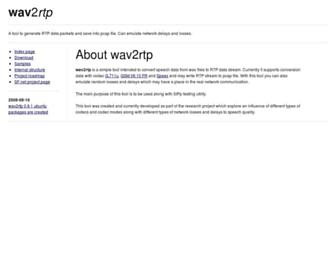 wav2rtp.sourceforge.net screenshot