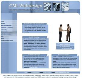 Main page screenshot of cml-webdesign.co.uk