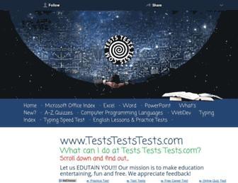 teststeststests.com screenshot