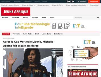 jeuneafrique.com screenshot