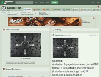 eclectic-tech.deviantart.com screenshot