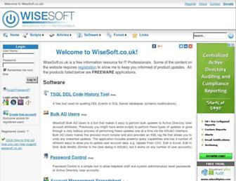 wisesoft.co.uk screenshot