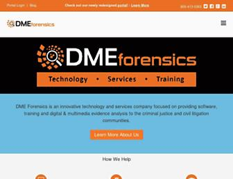 dmeforensics.com screenshot