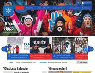 Main page screenshot of suusaliit.ee