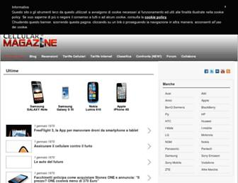 Main page screenshot of cellularmagazine.it