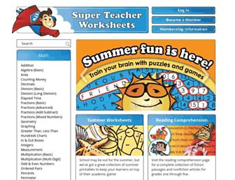 Thumbshot of Superteacherworksheets.com