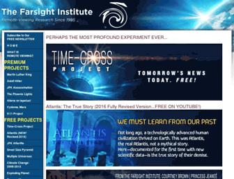 Main page screenshot of farsight.org