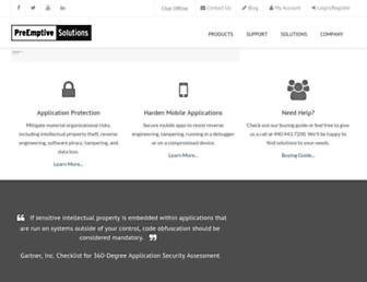 preemptive.com screenshot