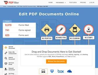 edit-pdf.pdffiller.com screenshot