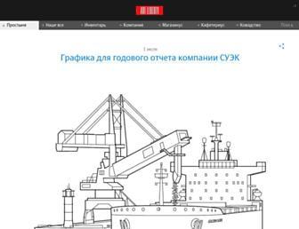 Main page screenshot of artlebedev.ru