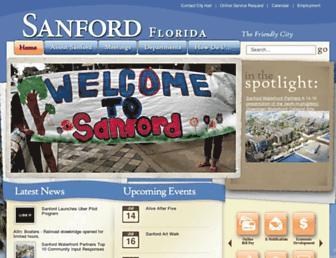 Main page screenshot of sanfordfl.gov