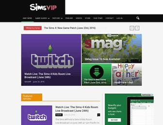 simsvip.com screenshot