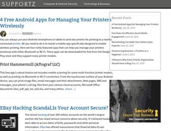 supportz.com screenshot