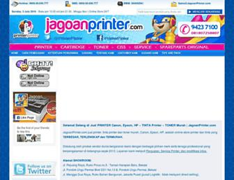 jagoanprinter.com screenshot