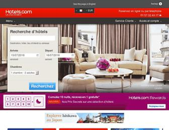 fr.hotels.com screenshot