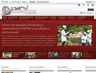 Main page screenshot of una.py