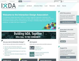 Main page screenshot of ixda.org