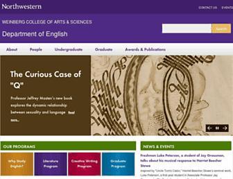 Main page screenshot of english.northwestern.edu