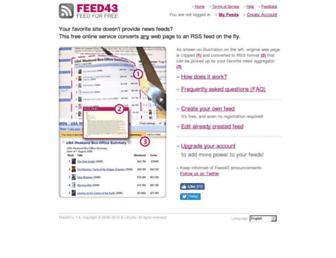 Thumbshot of Feed43.com