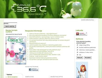Main page screenshot of 366.lt