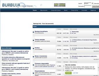 Main page screenshot of burbuja.info