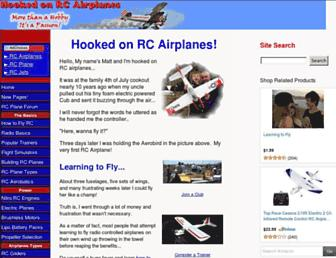 hooked-on-rc-airplanes.com screenshot