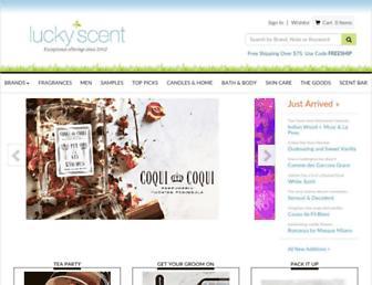 luckyscent.com screenshot