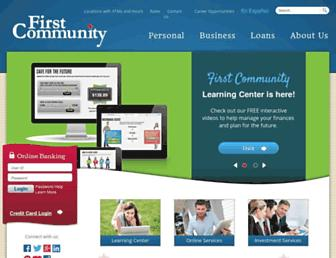 Thumbshot of Firstcommunity.com