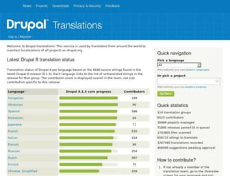 localize.drupal.org screenshot
