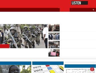 Main page screenshot of capitalfm.co.ke