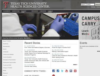 ttuhsc.edu screenshot