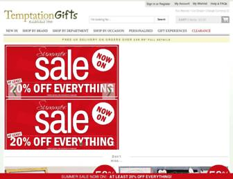 temptationgifts.com screenshot