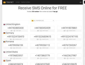 7sim.net screenshot