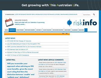 riskinfo.com.au screenshot