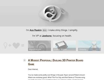 Main page screenshot of azarask.in