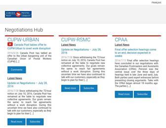 Main page screenshot of infopost.ca