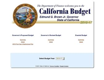 ebudget.ca.gov screenshot