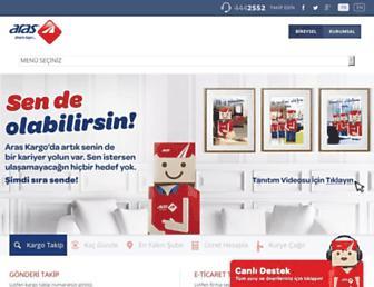 Main page screenshot of araskargo.com.tr
