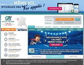 Main page screenshot of ca-illeetvilaine.fr